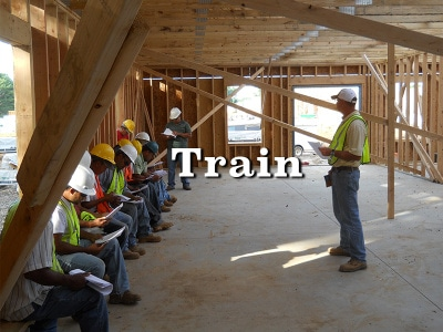 Menhardt Construction Wood Framing Contractors in PA, NJ, and DE train our employees