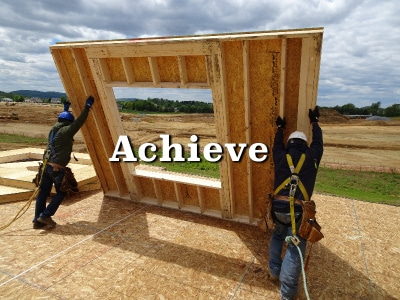 Menhardt Construction Wood Framing Contractors in PA, NJ, and DE meet and exceed all OSHA safety requirements